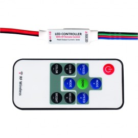Mini controller RGB cu telecomanda RF 3x4A